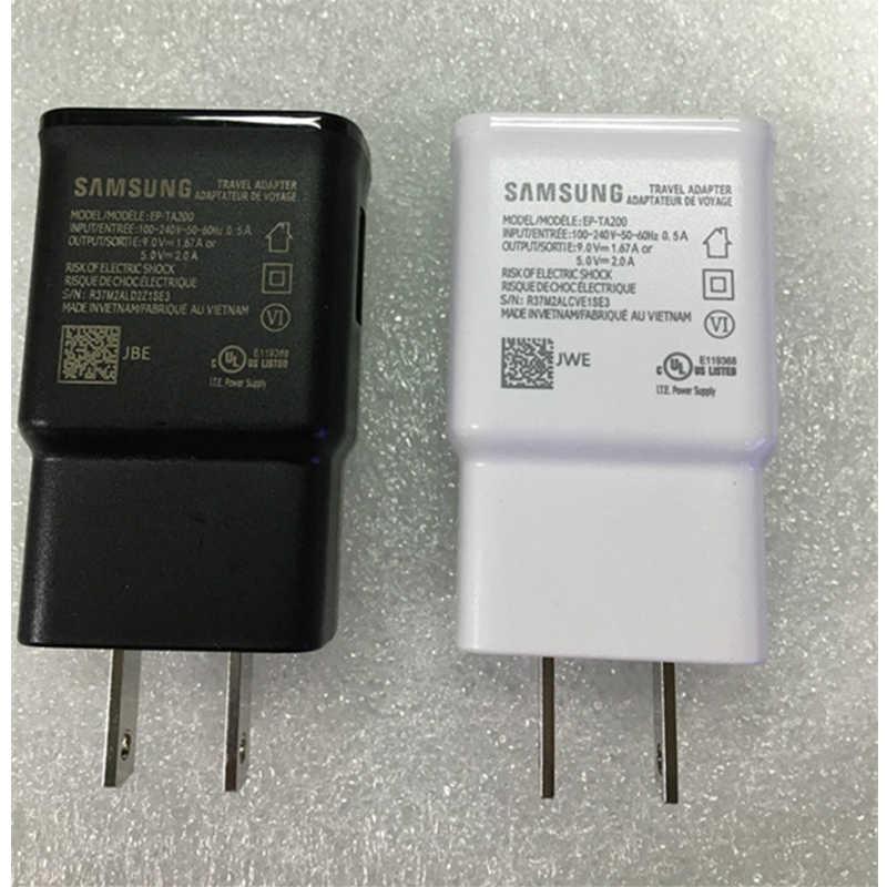 Chargeur d'alimentation rapide d'origine US Standard pour Samsung Galaxy S10 S10 + Note10 Note 10 + chargeur de téléphone à Charge rapide