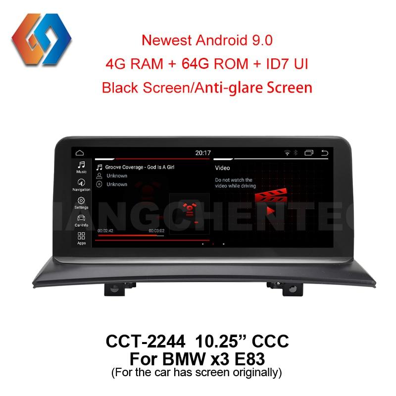 10,25 Android 9 64G для BMW X3 E83 CCC Автомобильный gps inDash мультимедийный большой сенсорный экран радио с iDrive WiFi BT tv DVR Backcam 44