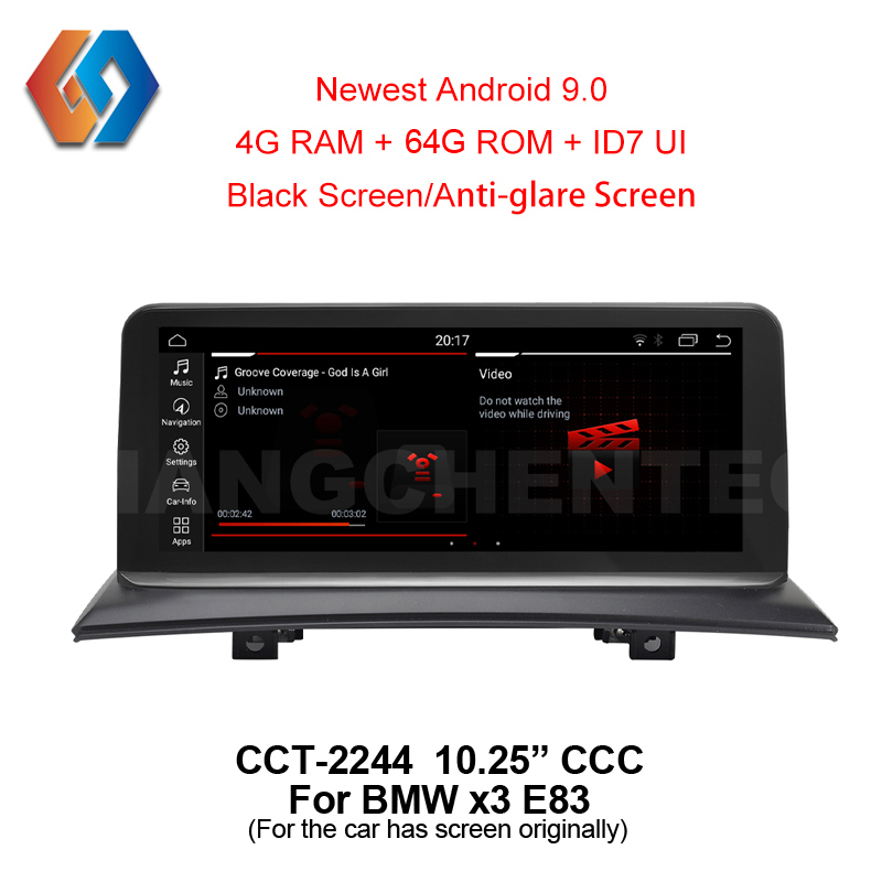 10.25 Android 9 64G for BMW X3 E83 CCC Car GPS inDash Multimedia Bigger Touch Screen Radio with iDrive WiFi BT TV DVR Backcam 44