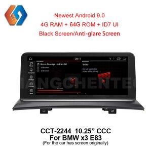 10.25 android 9 64g para bmw x3 e83 ccc carro gps indash multimídia maior rádio da tela de toque com idrive wifi bt tv dvr backcam 44