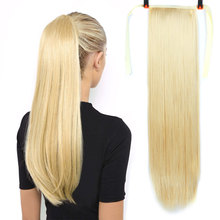 Hair-Extensions Ponytails Straight Long Synthetic Chip-In 80cm Bun 150g High-Temperature-Fiber