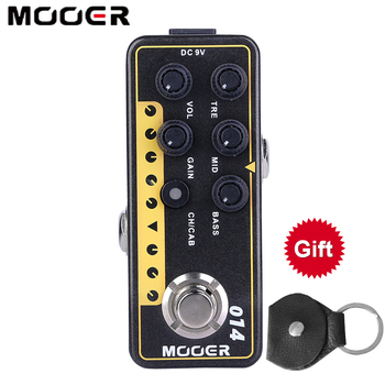 Mooer M014 Taxidea Taxus Electric Guitar Effects Pedal High Gain Tap Tempo Bass Speaker Cabinet Simulation Accessories Stompbox