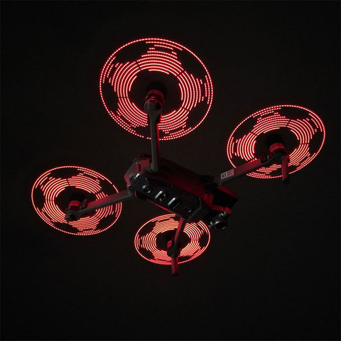 Lâminas para Dji Mavic Flash Hélice Noite Voando Pro – Zoom Drone Acessórios 2 Led