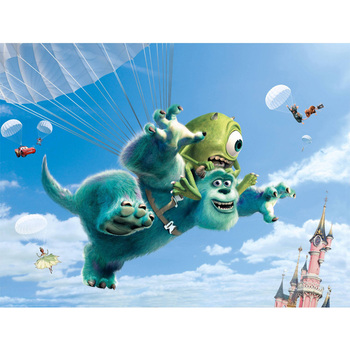 D0827 Monsters Inc Pixar James Movie Silk Fabric Poster Art Decor Indoor Painting Gift image