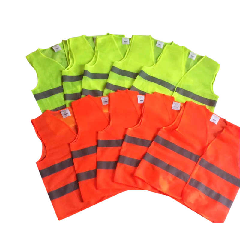 Reflective Fluorescent Vest XL XXL XXXL Yellow Orange Color Outdoor Safety Clothing Running Ventilate Safe High Visibility