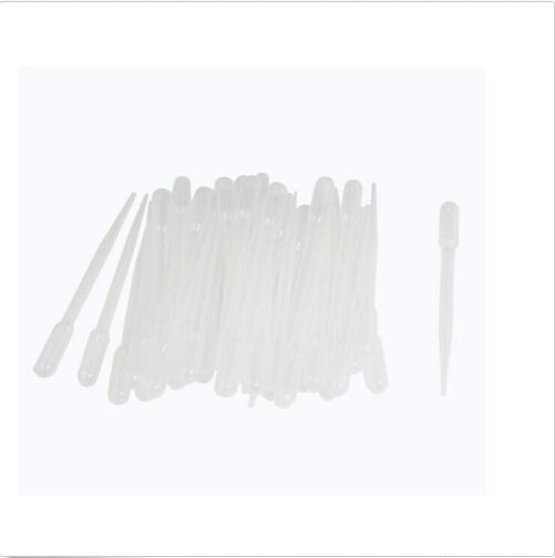 100pcs/set 3ML Transfer Pipettes Low Density Polyethylene Disposable Plastic  Household Eye Dropper Transfer Graduated Pipettes