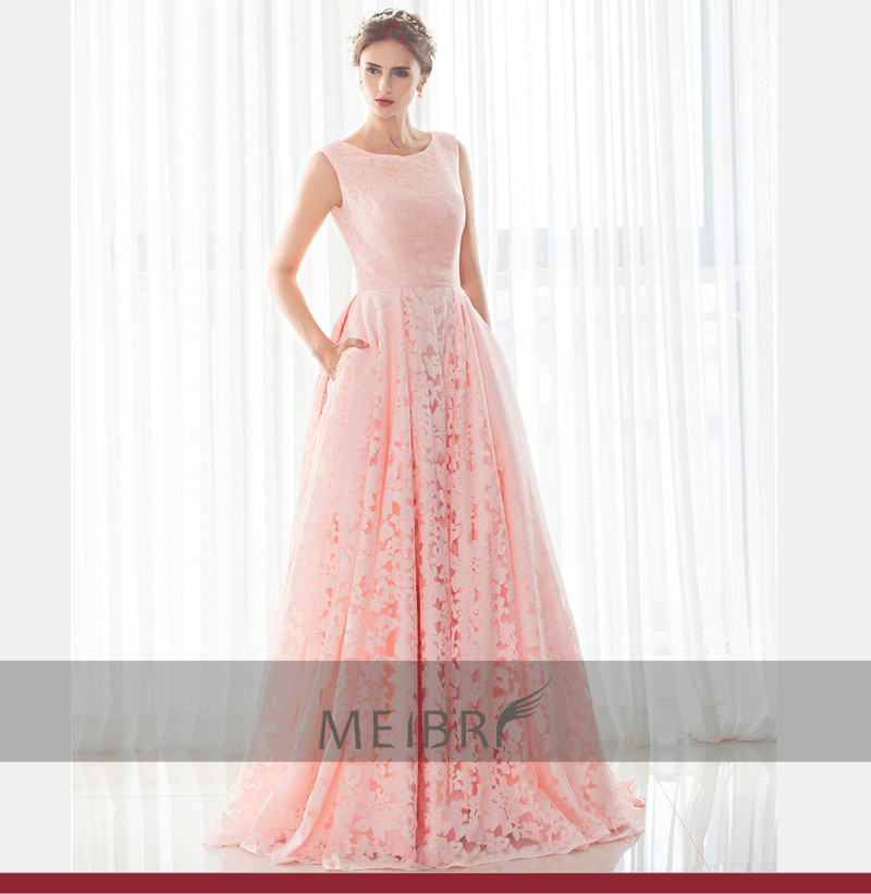 New Style Vestido De Noiva Prom Sexy A-line Vestidos Pink Lace Cheap Evening Long Robe De Soiree Mother Of The Bride Dresses