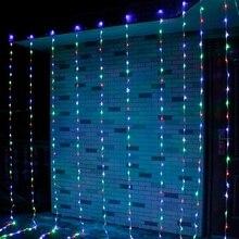 3M * 3M 320LED żarówki przepływu wody śnieg efekt kurtyny wodospad led string Lights boże narodzenie wesele tło okna światła