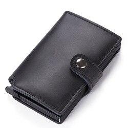 Bolsa de tarjeta de 2019 juego de tarjetas de shell automático anti-robo brocha tarjeta de crédito caja billetera Tarjeta de nombre de metal