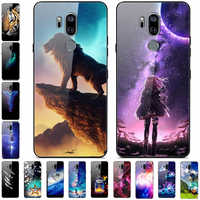 For LG G7 ThinQ Case Tempered Glass Hard Back cover For LG G7 LGG7 Case G710 G 7 Phone case for LG G7 Plus G7+ Luxury Coque