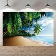 Lato krajobraz plaży Taranteiro tło zdjęcie Studio tło piękne palma tropikalne lato widok na morze Photocall Banner