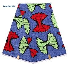 African BintarealWax Prints Fabric Dutch Wax dutch Polyester 6 yard Ankara For Women Dress FP6147