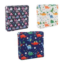 Baby Kids Dining Cushion Child Seat Increased Pad Soft Cartoon Print Adjustable Removable Chair Booster Mat