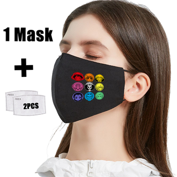 One Piece Characters Print Face Mask PM2.5 Filter Mouth Cover Hip Hop Printing Mask Washable Anti Dust Bacteria Proof Flu Masks