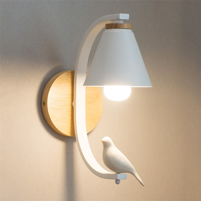 Nordic Led Wall Lamp Bird Light Modern Bedroom Bedside Lamp Living Room Corridor Decoration Sconce Wall Lights Fixtures E27 AC