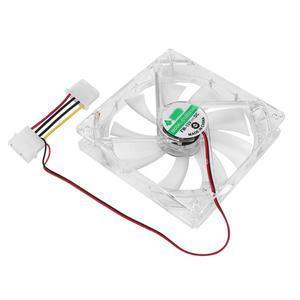 PC Computer Fan Quad 4 LED Light 120mm PC Computer Case 12V Cooling Fan Mod Quiet Molex Connector Easy Installed Fan Colorful 3W(China)