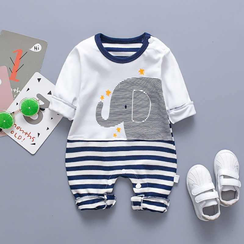 Autumn Baby Rompers for Boy Girl Clothes Casual Infant Romper Cartoon Print Long Sleeve Children Clothes Jumpsuit Outfits