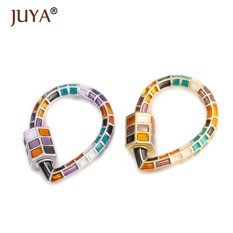 Juya Colorful Droppings Shape Spiral Clasps Trendy Jewelry Making Chain Pedant DIY Necklace Bracelets Handmade Accessories