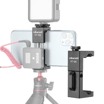 Ulanzi ST-08 mikrofon bezprzewodowy uchwyt telefonu dla RODE bezprzewodowy Go z klips do telefonu zimnego buta tanie i dobre opinie