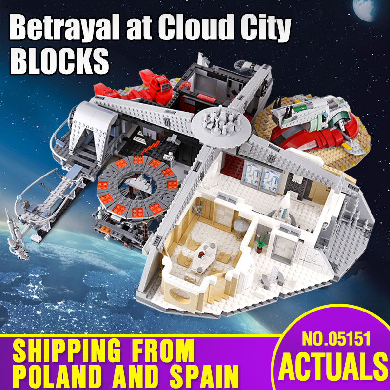 05145 05151 Star Series Wars The Legoing 75218 X-wing Star Fighter And 75222 Cloud City Building Blocks Kids Christmas Toys Gift