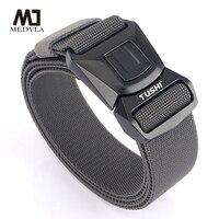 MEDYLA-cinturón táctico elástico de alta resistencia, hebilla de Metal de fibra elástica, cinturón deportivo, longitud ajustable, accesorios para deportes al aire libre
