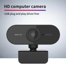 HD Webcam Mic Computer Video-Recording Work Mini 720p 1080P Desktop Rotatable with 480p