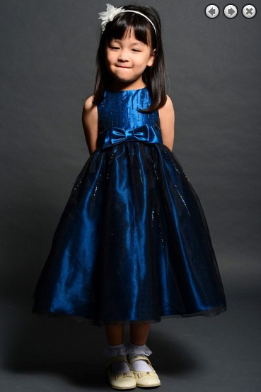 Free Shipping Flower Girl Dresses For Weddings 2016 Royal Blue Party Gowns Communion Kids Christmas Pageant Dresses For Girls