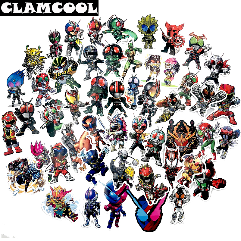 50Pcs Japanese classic live-action movie Kamen Rider sticker for skateboard guitar motorcycle luggage computer toys image