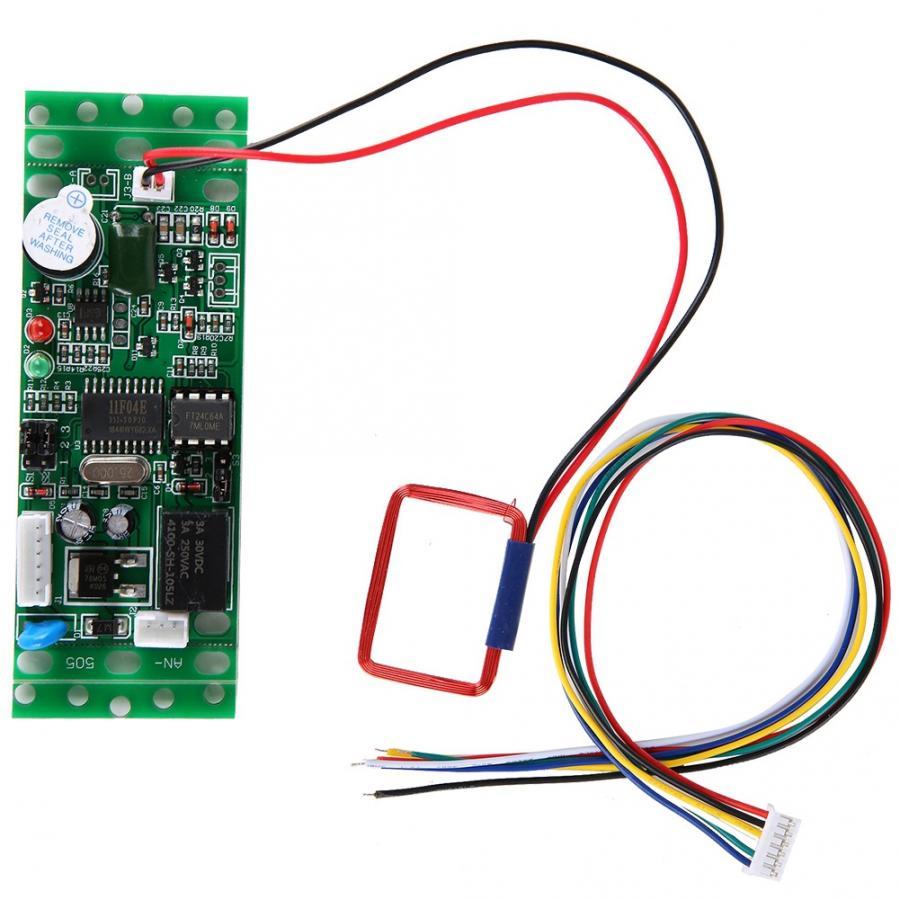 Módulo lector RFID 125khz Tablero de Control Integrado para controlador de acceso 9-12V lector rfid duplicador 10 duplicador de copiadora RFID de frecuencia inglesa 125 Khz llavero NFC lector escritor 13,56 MHz programador cifrado USB UID copia Etiqueta de tarjeta