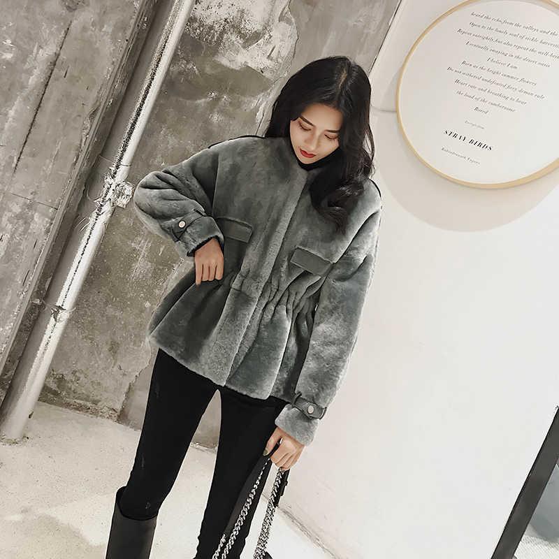 Casaco de pele natural das mulheres 100% jaqueta de lã roupas femininas 2020 parka casaco de pele real inverno feminino jaqueta de couro real pcl03 yy2411