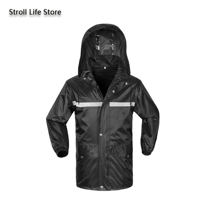 Hiking Raincoat Women Motorcycle Rain Pants Black Long Rain Coat Men Set Capa De Chuva Outdoor Suits for Men Rain Gear Partner 1