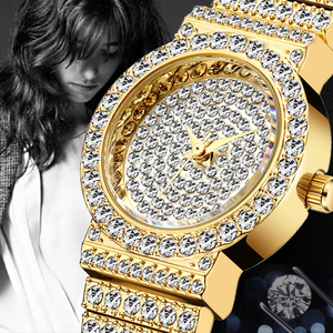 Image 5 - MISSFOX Small Womens Watch FF Unique Products Luxury Brand Diamond Watch Women Waterproof Analog 18K Gold Classic Iced Out Watch