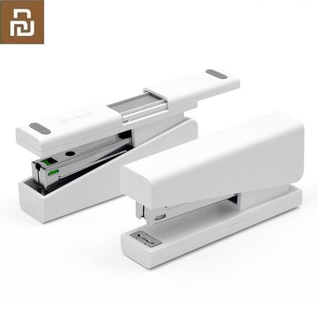 Youpin kaco lemo grampeador 24/6 26/6 com 100 pçs grampos para escola de escritório papel para casa inteligente kit