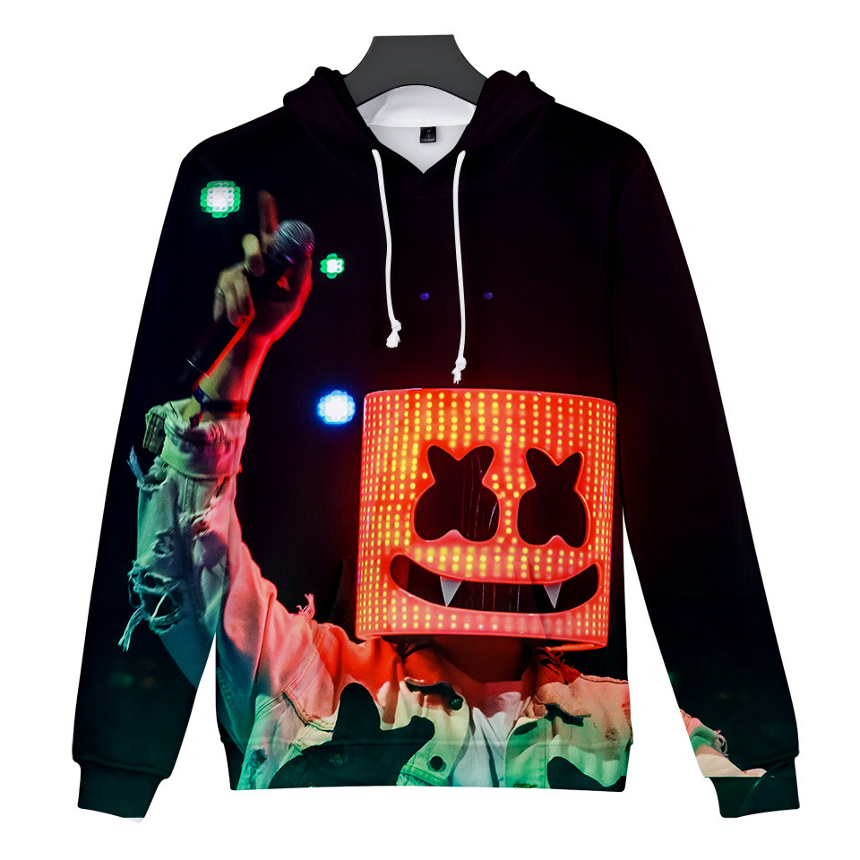 Hot Sales New Winter Cotton Sweatshirts Candy Band DJ 3D Digital Printing Hoodies Men Kids Fashion Streetwear Full Color Hoodies