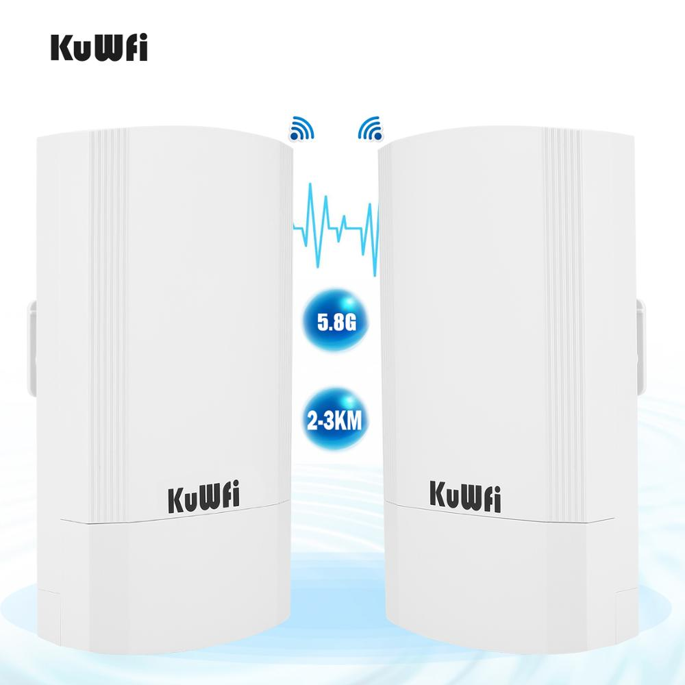 KuWFi 900Mbps Outdoor Wireless CPE Router 5.8G Wireless Repeater/AP Router/Wifi CPE Bridge Point To Point 1-3KM Wifi Coverage