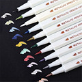 10 цветов маркер для рисования ручки металлические цветные ручки для черной бумаги товары для рукоделия Маркер ручки канцелярский материал ...