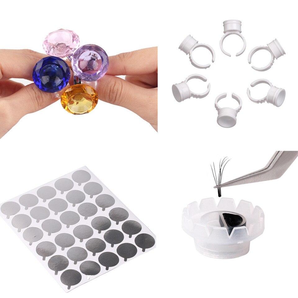 Профессиональный держатель клея для ресниц NEWCOME, прозрачное клеевое кольцо, одноразовый держатель, простой веер, процветающий стакан, клейк...