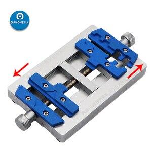 Image 4 - Mj k23 duplo eixo pcb suporte de solda para o reparo do iphone placa mãe reparação de solda dispositivo elétrico para samsung ferramenta de reparo de soldagem