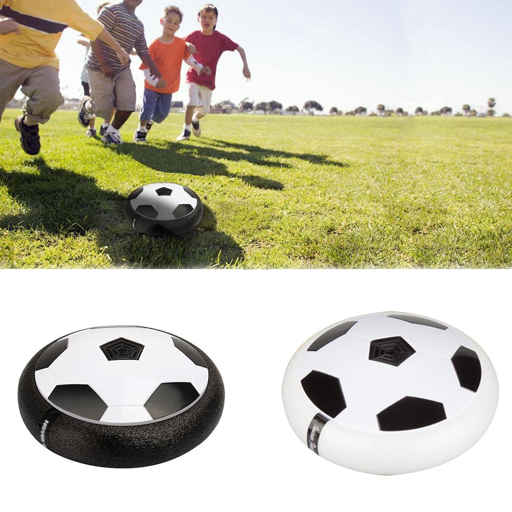 1PC Funny LED Light Flashing Ball Air Power Football Toys Boy Home Game Disc Gliding Soccer Stress Indoor Balls Kid Boy Gift