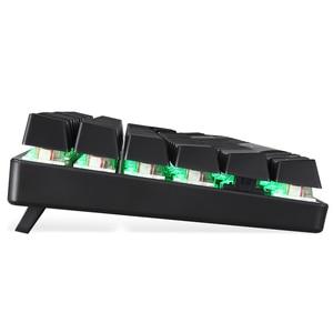 Image 5 - Motospeed clavier mécanique Gaming CK104, câble métallique bleu, Anti ghost, en russe, avec interrupteur LED rétroéclairé RGB