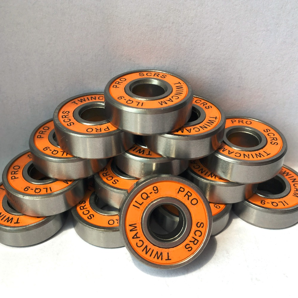 16pcs/lot SKATING TWINCAM ILQ-9 608zz Miniature Ball Radial Ball  Bearings For Skate Board Shoes Accessories  -9 Random Color