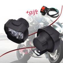 Светодиодная фара для мотоцикла 6500k 12 В светодиодная honda