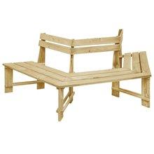 Banco de jardín de madera de pino impregnada, 240 cm