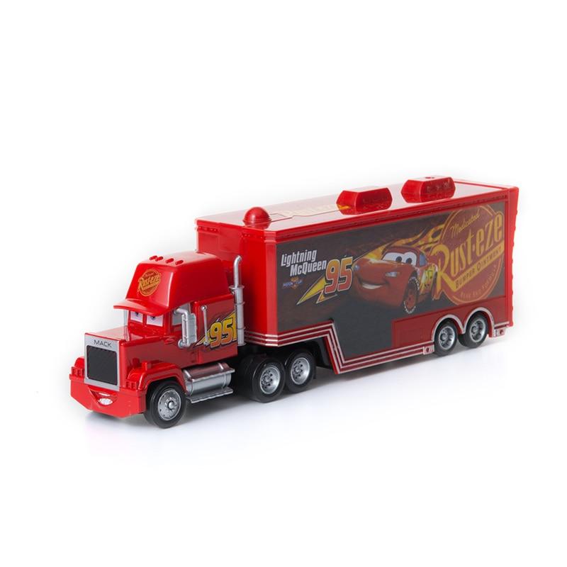 Cars Disney Pixar Cars 2 3 Toys No.95 Mack Uncle Truck Lightning McQueen Jackson Storm 1:55 Diecast Model Car Toy  Kids Gifts
