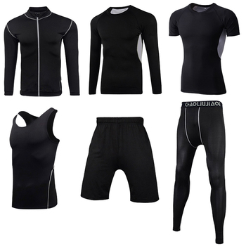Men Sportswear Compression Sport Suits Quick Dry Running Sets Clothes Sports Joggers Training Gym Fitness Tracksuits Running Set 27