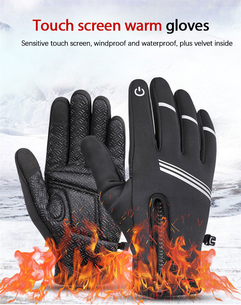 Unisex Winter Cycling Gloves Anti-slip Breathable Anti-shock Outdoor Sport MTB Bike Bicycle Motorcycle Gloves Sports Full Finger