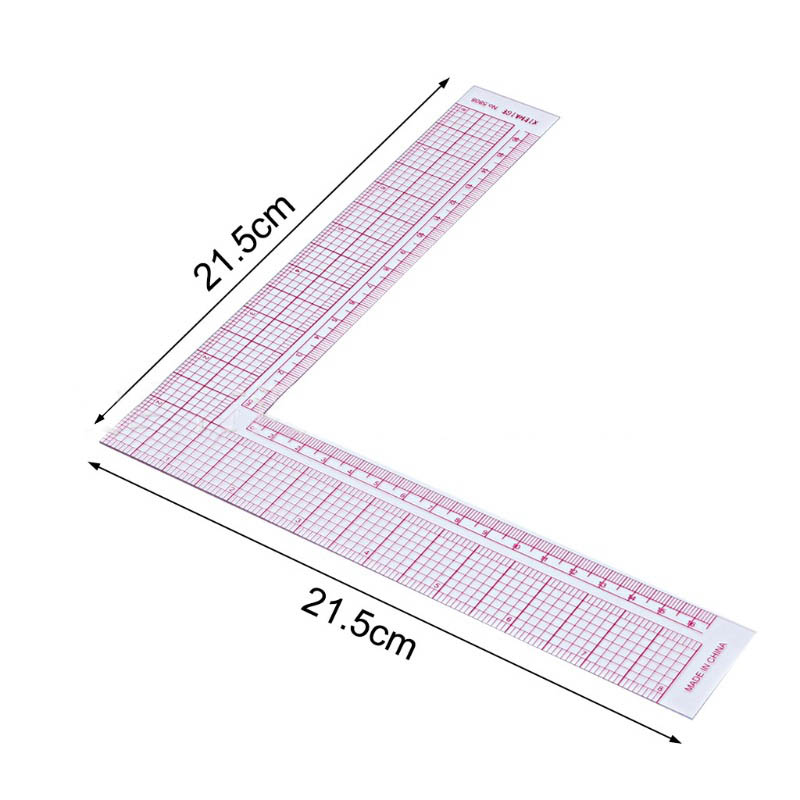Garment Cutting Plastic Quilting Ruler For Sewing Accessories Patchwork Tools Tailor Craft Scale Rule Drawing Supplies L Shape