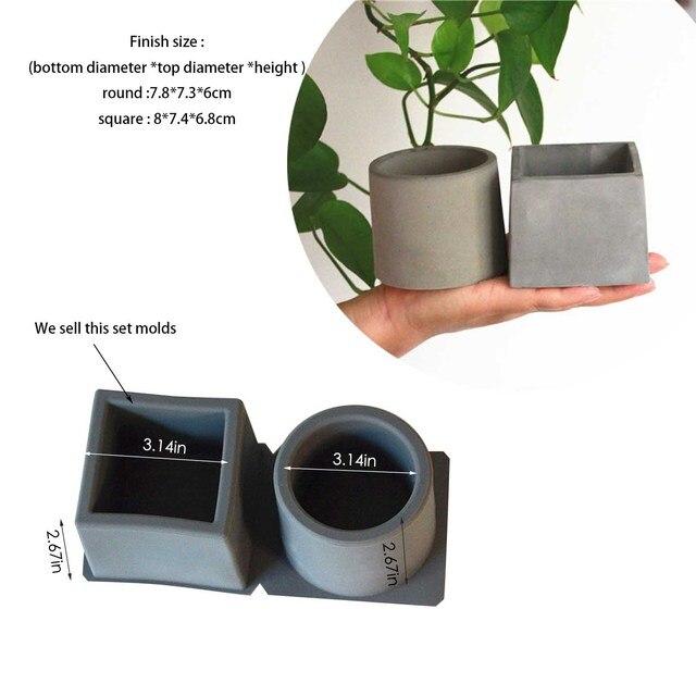 Concrete Terrazzo Pot Molds Silicone Planter Molds Reusable Silicone Pen Holder