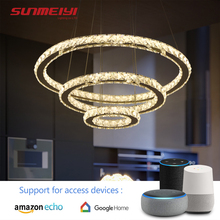 AI LED Crystal Chandeliers WiFi Sound Control Smart Light For Living room Bedroom Kitchen Lamp Nordic Chandelier Ceiling Fixture