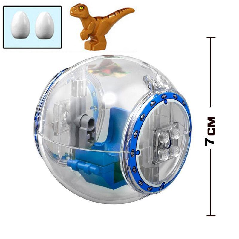 Jurassic Dinosaur World Park Tyrannosaurus Rex Gyrosphere Escape Ball Model Building Blocks Enlighten Figure Toys For Children